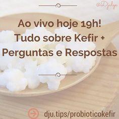 Booooom diaaaa!  Hoje a noite temos webinário sobre o probiótico KEFIR de Leite e de água.  Para participar: http://dju.tips/probioticokefir  #Kefir #Probiotico #Paleo