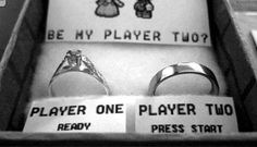 Geeky Mario Player One Player Two wedding ring box Best Proposals, Marriage Proposals, Wedding Proposals, Wedding Ring Box, Dream Wedding, Geek Wedding, Wedding Ideas, Wedding Poses, Wedding Details