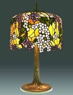 Tiffany lamps-irregular upper top -