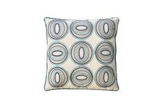 Contemporary Style Circle and Oval Patterned Set of 2 Throw Pillows, Ivory and Blue By Casagear Home Throw Pillow Covers, Throw Pillows, Grey Table Lamps, Winsome Wood, Bronze Mirror, Gold Candles, Metal Bar Stools, Circle Pattern, Mini Pendant