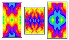 Rainbow Flames Beadwork Design