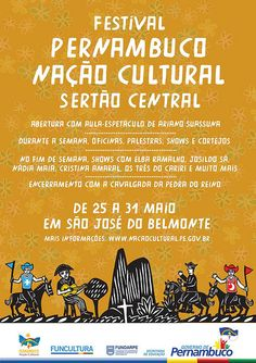 Cartaz Festival Pernambuco Nação Cultural - Sertão Central by Philipe Camarão, via Flickr
