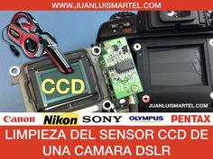 Limpieza del sensor ccd de una camara reflex en Las Palmas
