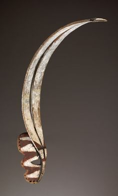Africa | Northern Mossi peoples, Burkina Faso | Mid-20th century | Wood, paint, leather