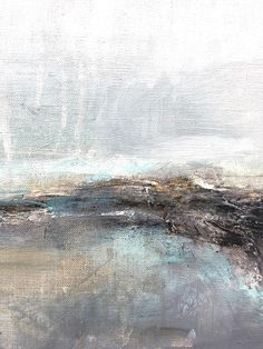 WASHED ASHORE is an abstract seascape inspired painting on linen board. I have recently been inspired by the stunning landscapes and seascapes of Northumberland, England. Although primarily an abstract artist, sometimes my work nudges me in the direction of these calming and atmospheric