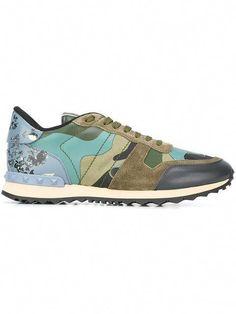 sale retailer e5ec6 8a43d Salvatore Ferragamo Men · VALENTINO Rockrunner Sneakers. valentino shoes  sneakers