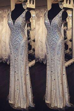 beaded prom dress, long prom dress, formal prom dress – BSBRIDAL