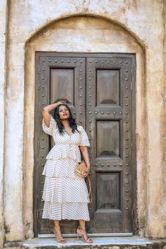 A great summer polka dot dress from Zara. www.cocoafemmecom Dot Dress, Work Wear, Winter Outfits, Polka Dot, Outfit Ideas, Zara, How To Wear, Inspiration, Dresses