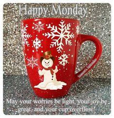 Happy Monday, via Trisha Hardin.. Christmas cup!