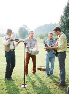 """Pick the band that is right for you at your wedding not the one that is """"most popular"""" http://www.stylemepretty.com/2016/03/18/30-ways-to-break-the-rules-and-have-the-coolest-wedding-ever/ Photography: Marta Locklear - http://www.martalocklear.com/"""