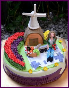 Summer in holland Cakes creation by ching pranata - Jakarta ,Indonesia