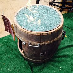 Wine Barrel  Fire Pit -  DELUXE EDITION