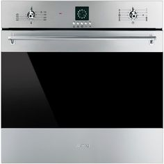 smeg classic 24inch builtin electric single wall oven stainless steel sf399xu