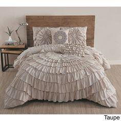 Azalee Romantic Ruffled 5 PC Comforter Bedding Set