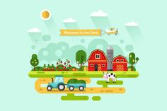 Welcome to the Farm Vector by MilkyM on @creativemarket