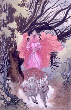 The Witch Queen Cracked her Whip - Limited Edition Art Print Signed by Neil Gaiman and Charles Vess