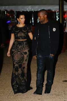 AMG: Pictures: Kanye West & Kim Kardashian Romantic 4 Am Stroll in Port of Cannes