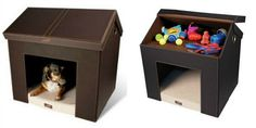 What a cute and smart toy storage idea for our four-legged babies.