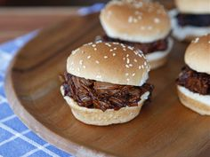 Slow Cooker Barbecue Brisket Sliders - Tender BBQ Recipe for Crock Pot