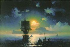 Lunar night on Capri - Ivan Aivazovsky