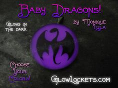 This would be really cool for Halloween  - Glowies.net - Baby Dragon Glow pendant necklace