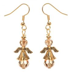 Tutorial - How to: Guardian Angel Earrings Project.  Just what I need to make for my granddaughters!