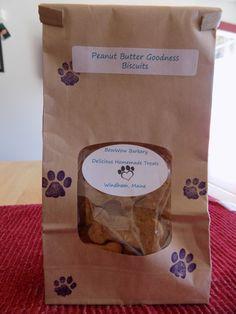 Homemade Dog Treats Peanut Butter Goodness by BowWowBarkeryLLC