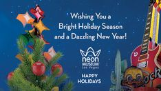 ✨ Happy holidays from your friends at The Neon Museum! Museums In Las Vegas, Neon Museum, Art Forms, Happy Holidays, Neon Signs, Seasons, History, Friends, Amigos