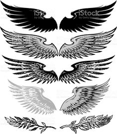 wings and laurel royalty-free stock vector art
