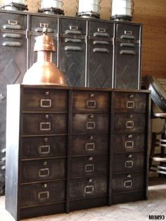 Vintage Industrial filing Strafor. #LaBoutiqueVintage