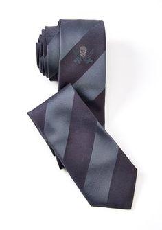 John Varvatos John Varvatos Star USA Stripe Neck Tie Blue