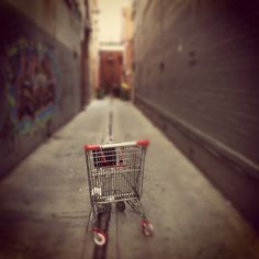 The trolley in the alley