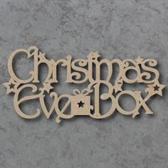 Christmas Eve Box made from thick mdf wood For that extra special… Christmas Eve Box For Adults, Wooden Christmas Eve Box, Xmas Eve Boxes, Christmas Craft Fair, Christmas Gift Box, The Night Before Christmas, Christmas Makes, Christmas Signs, Christmas Activities