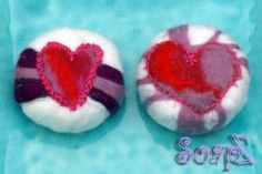 Felted soap.. all handmade. The felt and the soap!