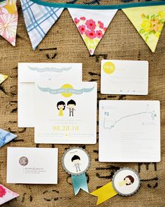 Using John's illustrations, Zoe designed the invitation suite, which included an invitation, response card, and map. The envelope's flap matched the invite, too. It was printed by Christine Capelli.