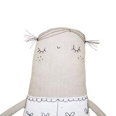 Soft Sculpture Doll Handmade Art Doll Plush  Art Doll by poosac, £24.50