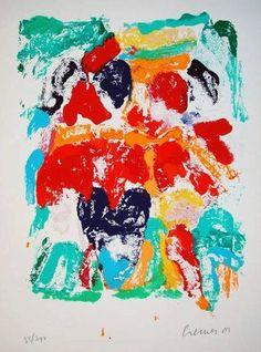 Jan Cremer, La Palette des Tulips 1  75 x 105