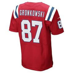 Official New England Patriots ProShop - Nike Elite Rob Gronkowski #87 Throwback Jersey-Red