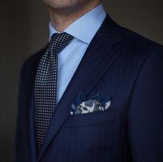 Suit and tie fixation - paul-lux: Patterns - Der Gentleman, Gentleman Style, Southern Gentleman, Men's Fashion, Fashion Outfits, Classic Fashion, Fashion Photo, Style Masculin, Gentlemans Club
