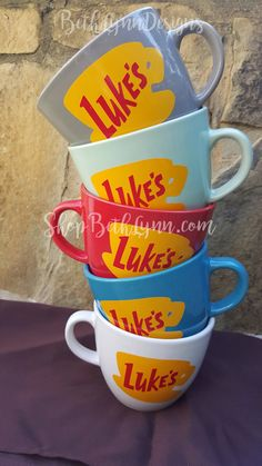 ***PLEASE READ ALL DETAILS IN THE LISTING, SHOP POLICIES & FAQS BEFORE PURCHASING AN ITEM. IF YOU ARE UNCLEAR ABOUT THE PRODUCT DESCRIPTION, PLEASE DO NOT PURCHASE THE PRODUCT UNTIL YOU UNDERSTAND THE DESCRIPTION FULLY. Ask any questions you may have BEFORE placing an order.*** Perfect for Gilmore Girls fans! Inspired by Lukes Diner, this mug is a BIG 16 ounces (reminiscent of just the type of mug you would find in the diner). The mug is approximately 3 1/2 inches tall and 4 1/...