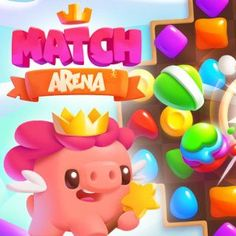 Free Match-3 Browser Game - Match Arena is a fun match 3 game with cartoon-like graphics and wonderful effects. #browsergame #freegames #gaming #match3 #candy #game #webgame