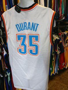 Vintage  35 KEVIN DURANT Oklahoma City Thunder NBA Adidas Jersey M f44d32cf5