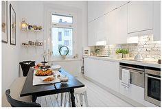 white rowhouse kitchen - baltimore (interior design)