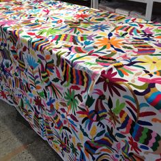 Genial Otomi Embroidered Tablecloths, Bedspreads Or Tenangos