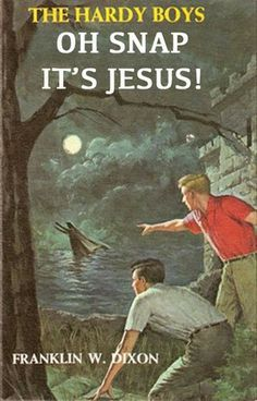 The Hardy Boys - The Haunted Fort by Franklin W. Dixon - Hardcover - Hardy Boys - Action Packed to the Max - Timeless mysteries! Funny Memes, Hilarious, Christian Humor, Up Book, Book Title, Twisted Humor, Laugh Out Loud, The Funny, Funny Life
