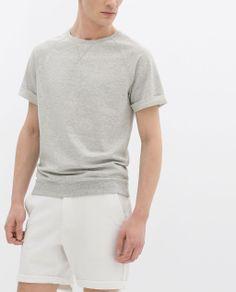 short sleeve sweatshirt ~ zara