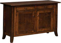 33% OFF Amish Furniture: Dresbach Cabinet Sofa Table: Oak