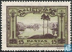 Stamps - Lithuania - Neman river