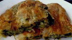 Türkische Börek mit Spinat Füllung-Ispanakli kol böregi