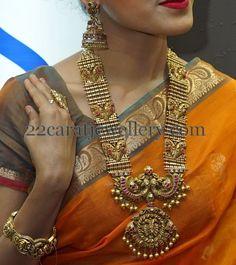 Jewellery Designs: Peacock Antique Mala